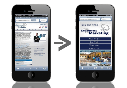Mobile Sites versus Responsive Design