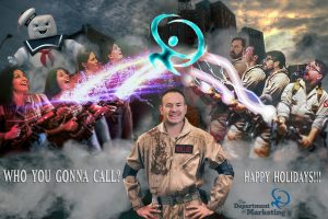 DofM holiday card 2016 ghostbusters