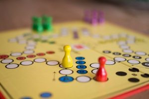board game with colorful pieces to represent 2019 marketing strategy